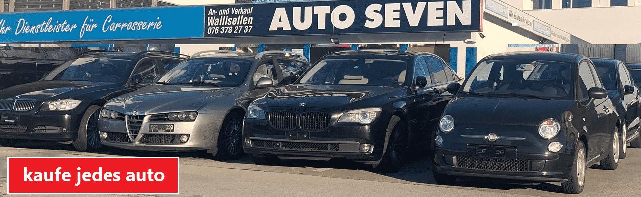 Kaufe jedes Auto in der Schweiz in Bar auf! Auto-Ankauf-Seven.ch